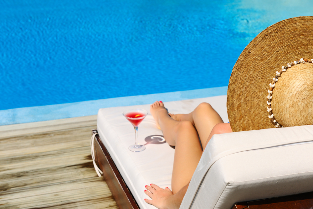 poolside chaise lounge